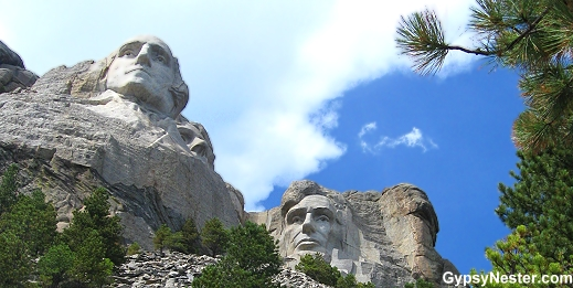 Mount Rushmore side view