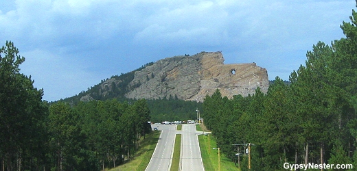 On the road to Mount Rushmore