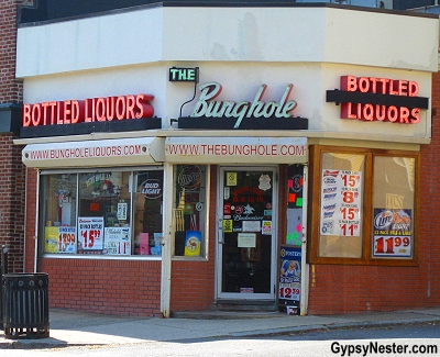 The Bunghole Liquor Store in Salem, Massachusetts