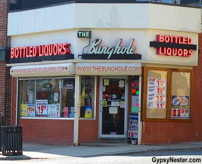 The Bunghole Liquor Store in Salem, Massachusetts