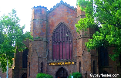 The Salem Witch Museum in Salem, Massachusetts