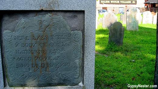 Cemetery in Salem, Massachusetts