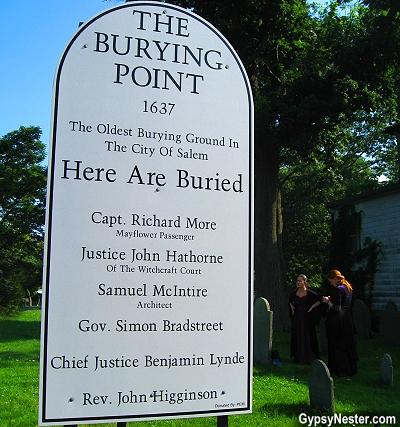 The Burying Point Cemetery in Salem, Massachusetts