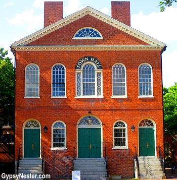 The town hall in Salem, Massachusetts