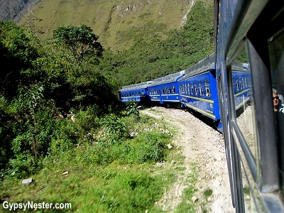 The excursion train to Machu Picchu in Peru
