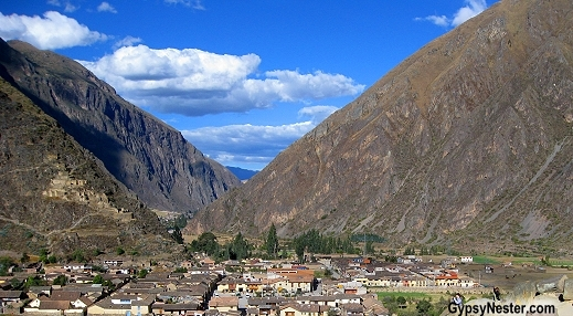 View from the top of Ollantaytambo ruins