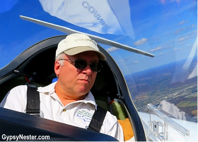 Steve my trusty glider pilot at Harris Hill Soaring, in Horseheads, New York