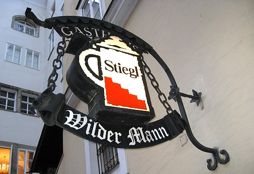 Wilder Mann Guild Sign featuring Stiegl