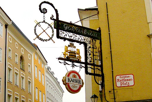 Gablerbrau Guild Sign featuring Kaiser Beer
