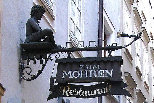 Zum Mohren Guild Sign