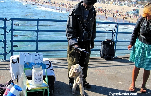 A puppeteer on the Santa Monica Pier