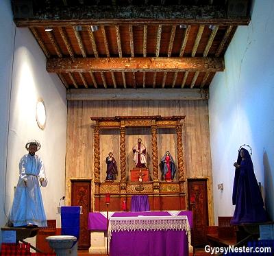 The chapel of The Mission San Juan Capistrano, San Antonio, Texas
