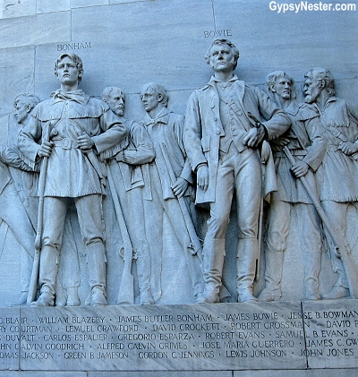 The memorial honoring the men who fought at the Alamo in San Antoino, Texas