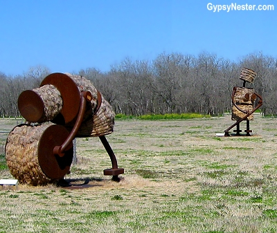 Makin' Hay by Tom Otterness in San Antonio, Texas
