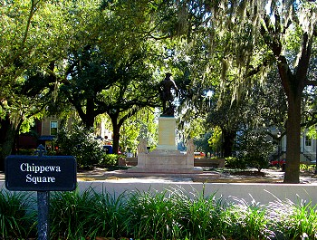 Chippewa Square, Savannah, Georgia