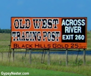Signs on the praire in the American West