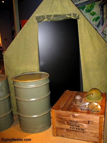 Army display at The Spam Museum in Minnesota