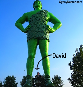 The Jolly Green Giant in Blue Earth, Minnesota