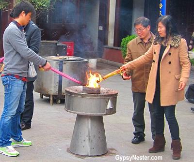 Incense at Shanghai's City God Temple