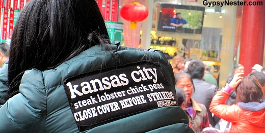 Huh? Jacket at Nanxiang Steamed Bun Restaurant in Shanghai China's Old City