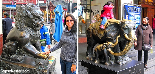 Statues in Shanghai, China's Old City