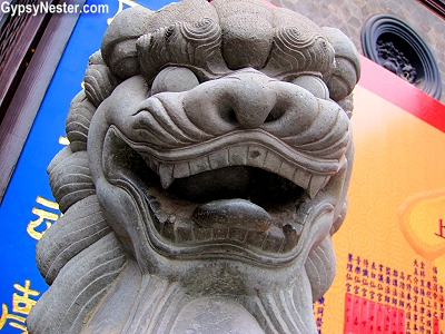 A statue at Shanghai's City God Temple