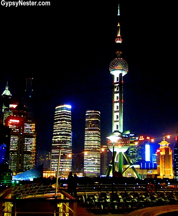 Shanghai from the deck of the ms Volendam