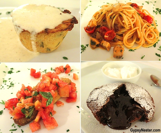 Four course dinner at Hotel Borgo Pantano in Sicily, Italy