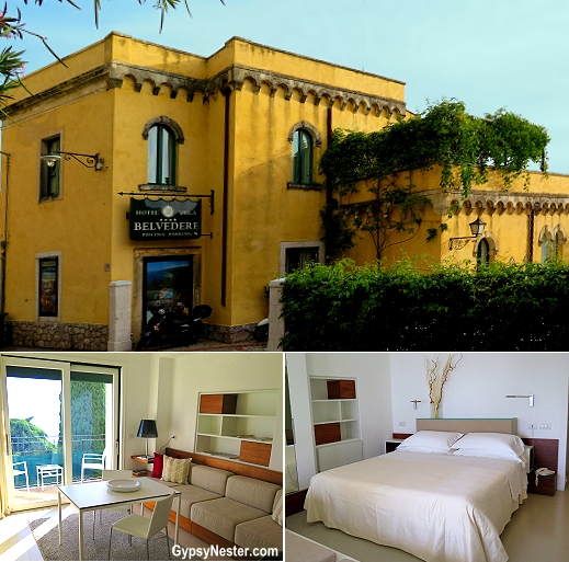 Hotel Villa Belvedere, with its incredible sea-and-Etna views proves the perfect place to lay our heads in Taormina, Sicily