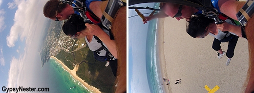 Picture perfect landing onto Coolum Beach