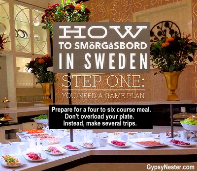 How to smorgasbord in Sweden