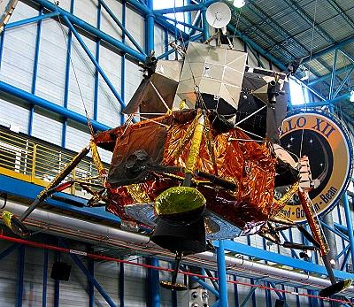 A lunar module at The John F Kennedy Space Center