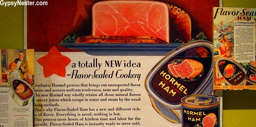 Vintage Ads for Hormel Ham at The Spam Museum in Minnesota