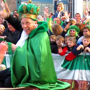 All Hail the King of the World's Shortest St. Paddy's Day Parade in Hot Springs, Arkansas