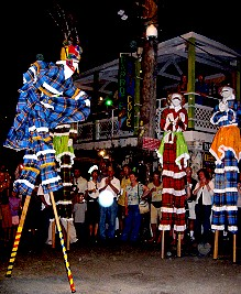 Mocko Jumbies on St. Croix Virgin Islands