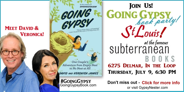 You're Invited! Going Gypsy Book Party at St. Louis's Famous Subterranean Books! July 9, 6:30 PM. RSVP now at http://www.gypsynester.com/stl-event.htm