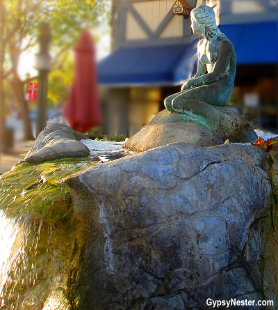 The Little Mermaid Statue in Solvang, California