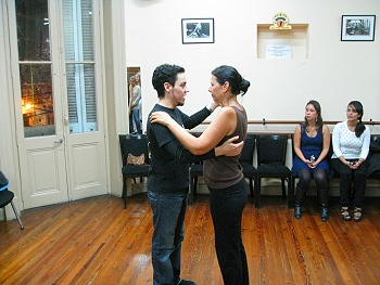 Veronica gets her first tango lesson