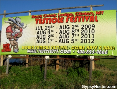 Testicle Festival in Clinton, Montana