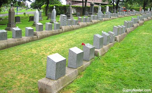 The Titanic Cemetery in Halifax, Nova Scotia