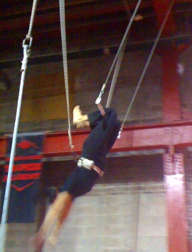Veronica on the trapeze!