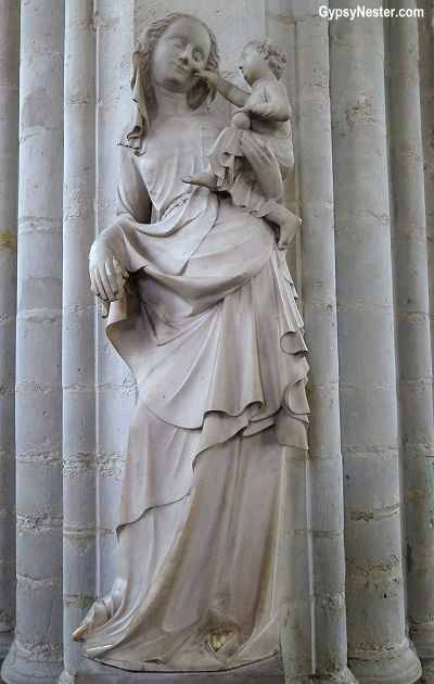Beautiful rendition of the Virgin Mary in the Cathedral of Our Lady in Antwerp, Belguim