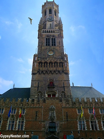 The bell tower of Bruges, Belgium