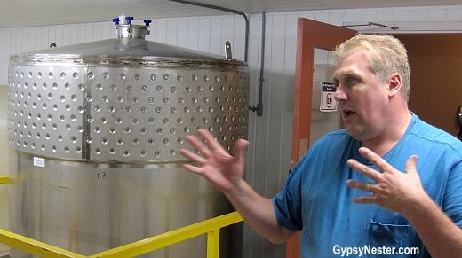 Danny Bath of Auk Island Winery in Twillingate, Newfoundland