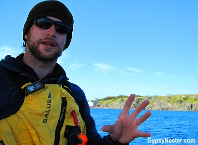 Our guide Grant of Ocean Quest Close Encounters in Twillingate, Newfoundland