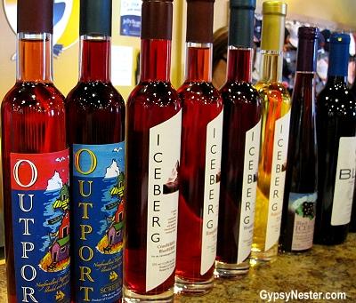 Screech adn Iceberg Wine at Auk Island Winery in Twillingate, Newfoundland