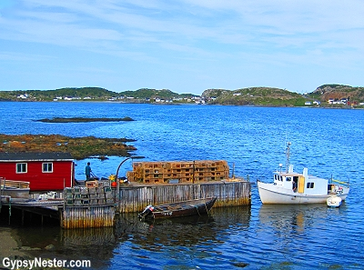 A lobster fisherman in Twillingate, Newfoundland, Canada