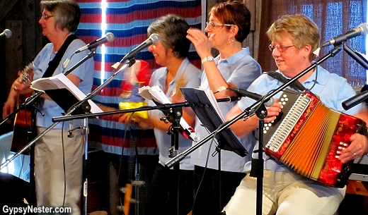 The Split Peas were performing at the Touton House in Twillingate Newfoundland