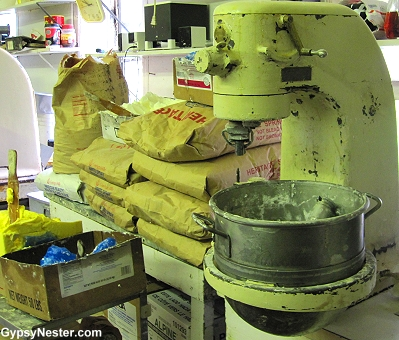 Underbrink's Bakery's low-tech system