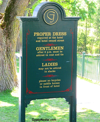 Aren't we hoity-toity? The dress code at the Grand Hotel on Mackinac Island, Upper Peninsula, Michigan